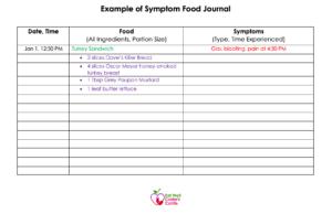 Example of Symptom Food Journal