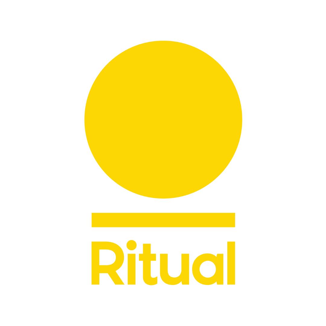 A close up image of Ritual's logo