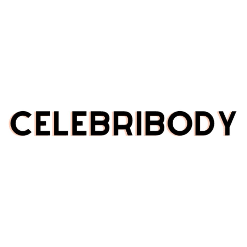 A close up image of Celebribody's logo