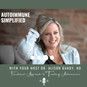 A close up image of the Autoimmune Simplified Podcast Logo
