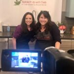 An image of Danielle and Debbie's Zoom cooking class