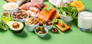 A close up image of anti-inflammatory foods that fit the Mediterranean and SCD Diets